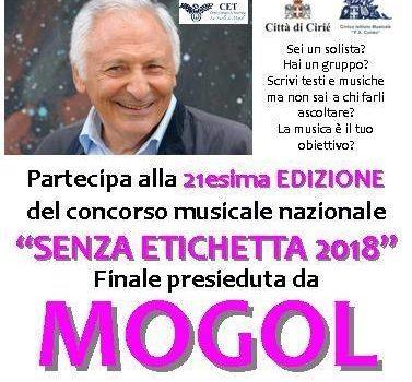 """CONCORSO MUSICALE DI MOGOL """"SENZA ETICHETTA"""""""