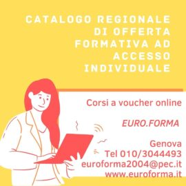 EURO. FORMA DI GENOVA: CATALOGO REGIONALE DEI CORSI PER DISOCCUPATI