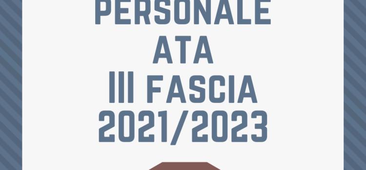 GRADUATORIE PERSONALE ATA DI TERZA FASCIA TRIENNIO 2021/2023