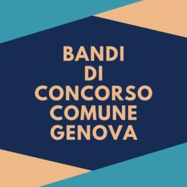 BANDI DI CONCORSO COMUNE GENOVA
