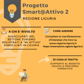 PROGETTO SMART@ATTIVO SECONDA EDIZIONE: FORMAZIONE E INDENNITA'